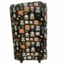 Kép 3/4 - Bagoly mintás színes gurulós bőrönd Allecra