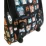 Kép 4/4 - Bagoly mintás színes gurulós bőrönd Allecra
