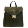 Kép 2/2 - Diana bőr hátizsák fekete színben
