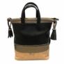 Kép 1/4 - Karen rostbőr hátizsák fekete barna színben