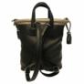 Kép 3/4 - Karen rostbőr hátizsák fekete barna színben