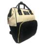 Kép 2/5 - Baba - mama pamutvászon táska fekete és bézs színben
