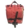 Kép 3/3 - Baba - mama pamutvászon táska sötétpiros színben