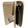 Kép 3/3 - Krém színű műbőr pénztárca virágos
