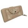 Kép 2/3 - Krém színű műbőr pénztárca virágos