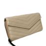 Kép 2/3 - Tört fehér színű nagyméretű műbőr pénztárca