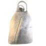 Kép 1/3 - Műbőr fekete hátizsák szürke 349