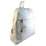 Kép 2/3 - Műbőr hófehér hátizsák 6762