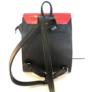 Kép 2/2 - Karen piros fekete rostbőr hátitáska