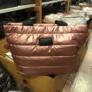 Kép 1/2 - Steppelt kabát anyagú oldaltáska rózsaszín