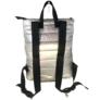 Kép 2/2 - Ezüst steppelt hátizsák