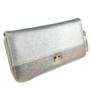 Kép 1/2 - Ezüst és szürke műbőr pénztárca