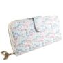 Kép 2/4 - Fehér virágos műbőr pénztárca