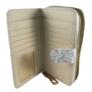 Kép 3/4 - Fehér virágos műbőr pénztárca