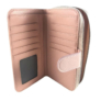 Kép 4/4 - Pink virágmintás műbőr pénztárca T-035