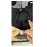 Kép 2/2 - Fekete kézitáska válltáska textil kutyus