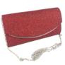 Kép 2/3 - Alkalmi táska csillogó piros