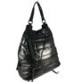 Kép 1/4 - Fekete steppelt divatos hátizsák