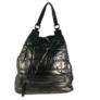 Kép 2/4 - Fekete steppelt divatos hátizsák