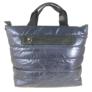 Kép 2/3 - Steppelt kabát anyagú oldaltáska sötétkék színben