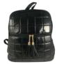Kép 1/4 - Steppelt hátizsák fekete színben 8353