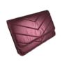 Kép 1/3 - Nagyméretű bordó steppelt pénztárca