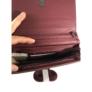 Kép 3/3 - Nagyméretű bordó steppelt pénztárca