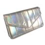 Kép 1/3 - Csillogó ezüst steppelt kézitáska vállpánttal