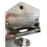 Kép 3/3 - Csillogó ezüst steppelt kézitáska vállpánttal