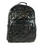 Kép 2/3 - Mai Max fekete divatos steppelt hátizsák