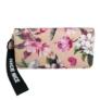 Kép 2/3 - Bézs alapon virágos műbőr pénztárca