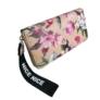 Kép 1/3 - Bézs alapon virágos műbőr pénztárca