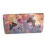 Kép 2/3 - Színes virágos lepkés műbőr pénztárca