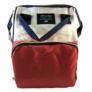 Kép 2/3 - Baba - mama pamutvászon táska piros és bézs színben