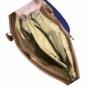 Kép 3/3 - Osztott rekeszes barna mintás válltáska