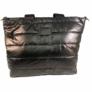 Kép 3/3 - Steppelt kabát anyagú oldaltáska fekete színben