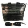 Kép 2/3 - Steppelt kabát anyagú oldaltáska fekete színben
