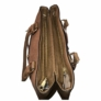 Kép 3/3 - Két cipzáros dupla rekeszes barna válltáska