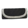 Kép 2/2 - Alkalmi táska strasszos betéttel fekete színben