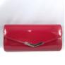 Kép 2/2 - Alkalmi táska lakk hatású piros színben