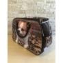 Kép 3/5 - Nagyméretű kiskutyus mintájú bőrönd Anita