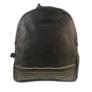 Kép 2/3 - Műbőr mintás hátitáska fekete színben
