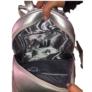 Kép 2/2 - Ezüst színű műbőr hátitáska
