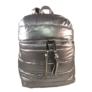 Kép 2/3 - Steppelt hátizsák ezüst színben