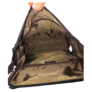 Kép 4/4 - Igazi nőcis barna műbőr hátitáska