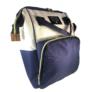 Kép 2/5 - Baba - mama pamutvászon táska kék és bézs színben