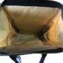 Kép 5/5 - Baba - mama pamutvászon táska kék és bézs színben