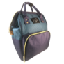Kép 2/2 - Baba - mama pamutvászon táska kék és zöld színben