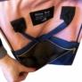 Kép 3/4 - Baba - mama pamutvászon táska rózsaszín sötétkék színben