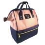 Kép 2/4 - Baba - mama pamutvászon táska rózsaszín sötétkék színben